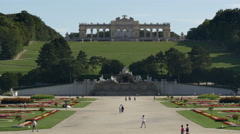 Gloriette in the Schonbrunn Palace Garden in Vienna Stock Footage