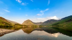 Sunset Over Buttermere Lake in Cumbria UK Stock Footage