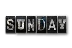 Sunday Concept Isolated Letterpress Type Stock Illustration