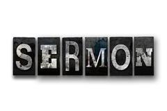 Sermon Concept Isolated Letterpress Type Stock Illustration