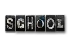 School Concept Isolated Letterpress Type Stock Illustration