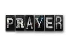 Prayer Concept Isolated Letterpress Type Stock Illustration