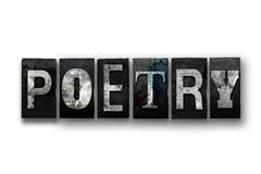 Poetry Concept Isolated Letterpress Type Stock Illustration