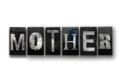 Mother Concept Isolated Letterpress Type Stock Illustration