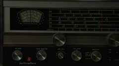 Short Wave Radio Power On Stock Footage
