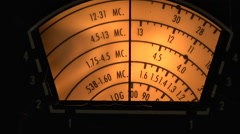 Short Wave Radio Tuning Dial Stock Footage