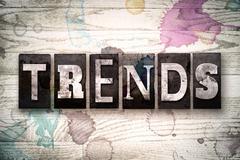 Trends Concept Metal Letterpress Type Stock Illustration
