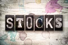 Stocks Concept Metal Letterpress Type Stock Illustration