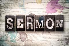 Sermon Concept Metal Letterpress Type Stock Illustration