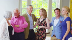 4K Portrait of three generations of a happy family together at home Stock Footage
