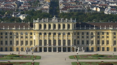 European architecture. Neoclassical style. Schonbrunn palace Stock Footage