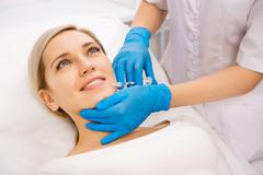 Beauty facial injections Stock Photos