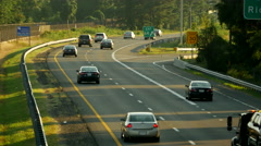 Beltway traffic exit day Stock Footage