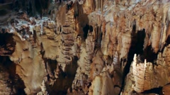 Dargilan Cave Geology And Geologic Formations In France Stock Footage