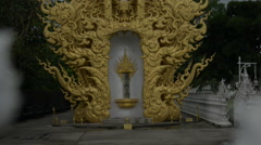 Thailand Wat Rong Khun Outside Garden Stock Footage