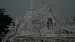 Thailand Wat Rong Khun Exterior View Stock Footage