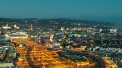 Timelapse Sunset, Zurich, Switzerland Stock Footage
