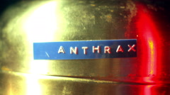 Anthrax containment cannister Stock Footage