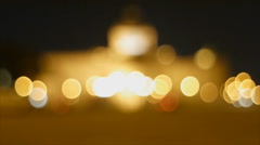 Defocus of building and traffic Stock Footage