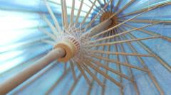 Parasol umbrella up close Stock Footage