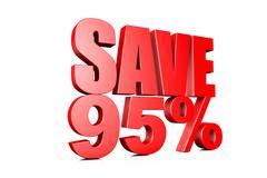 3d illustration save 95% Stock Illustration