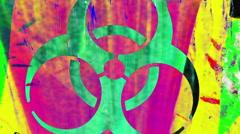Toxic biohazard poison bio hazard Stock Footage