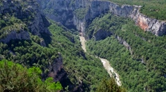 Gorges Du Verdon Seen From Chalet De La Maline France Stock Footage