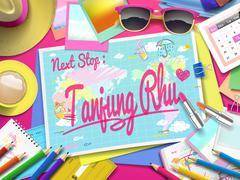 Tanjung Rhu on map Stock Illustration