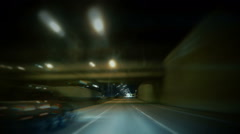 Drunk Driving, Under Influence at Night Driver Stock Footage
