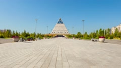 Palace of Peace and Accord in Astana Stock Footage