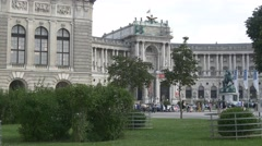 Hofburg palace and gardens in front of it Stock Footage