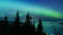 Colorful Northern lights (Aurora borealis) in the sky Arkistovideo