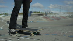 Skateboard pushing off Stock Footage