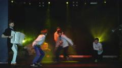 Group of guys dancing break dance Stock Footage