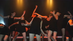 Dance group performs on stage Stock Footage