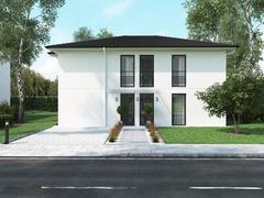 Modern townhouse. 3d rendering Stock Illustration