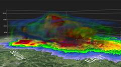 2011 Joplin MO Tornado 3D Radar Arkistovideo