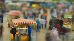 Motion of thick crowd of people Stock Footage
