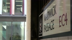 Warwick passage EC4 public access the old Bailey, central criminal court London Stock Footage