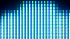 Ms. Pac Man - Pixel level macro view blue monster bouncing Stock Footage