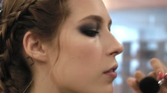 Close-up of a girl in a beauty salon Stock Footage