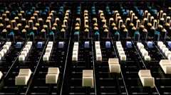 Professional sound mixing desk. Stock Footage
