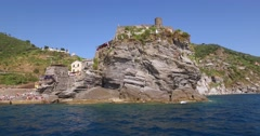 The village of Vernazza, one of the famous Cinque Terre. Stock Footage