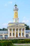 Building of fire tower on Susaninskaya square, Kostroma, Russia Stock Photos