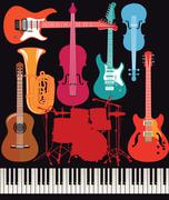Abstract musical instrument Stock Illustration