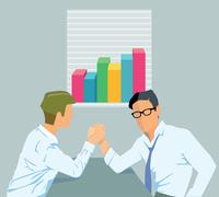 Successful business teamwork Stock Illustration