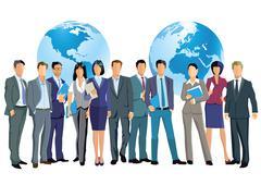 Business Worldwide teamwork Stock Illustration