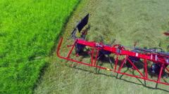 Turning hay around  Stock Footage