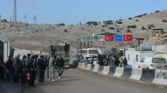"A Border Between Syria And Turkey ""Bab Alhawa"" Stock Footage"