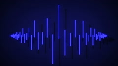 Audio equalizer bars moving. Loopable. Stock Footage
